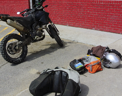 Packing for motorcycles